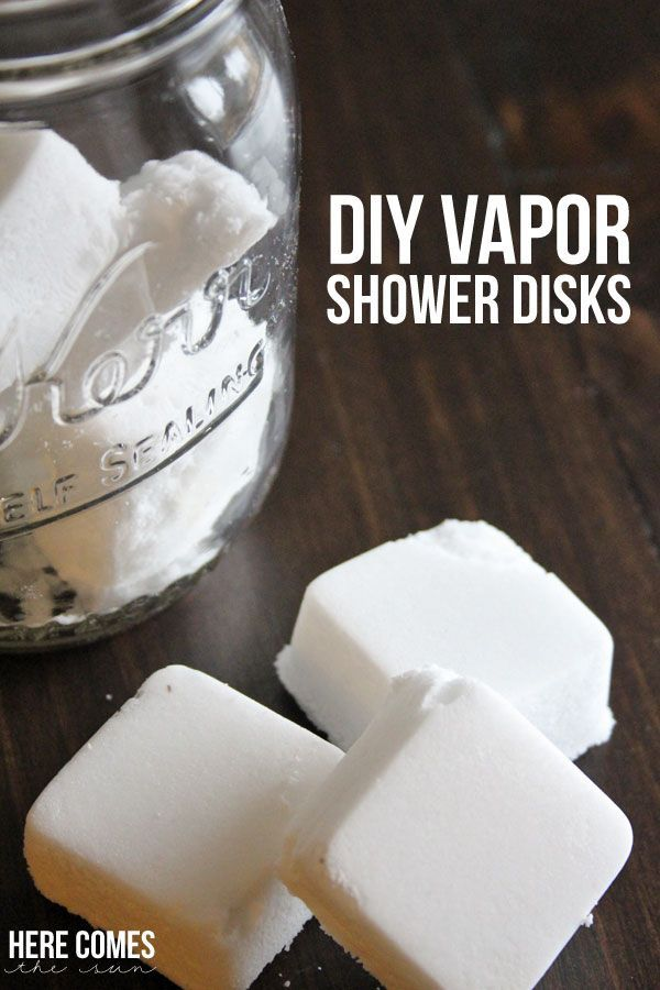 Vapor Shower Disks made with essential oils!  Toss in the shower when you are congested!
