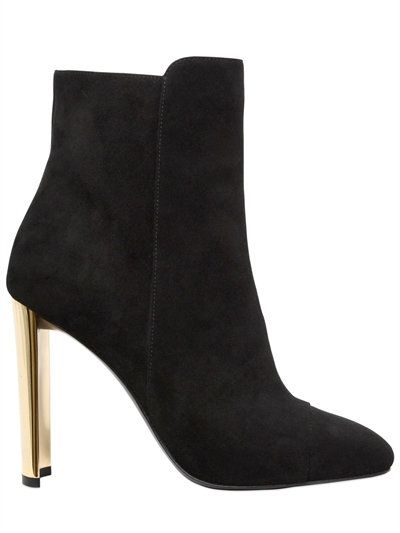 GIUSEPPE ZANOTTI DESIGN - 105MM SUEDE ANKLE BOOTS - BOOTS - BLACK - LUISAVIAROMA
