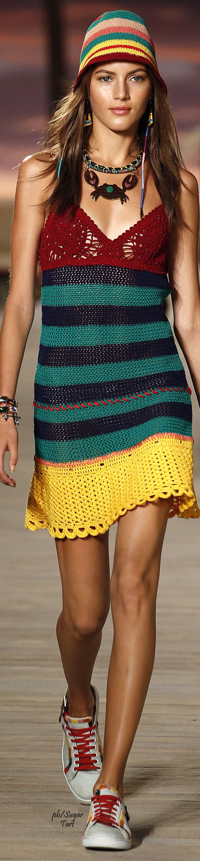 Tommy Hilfiger Spring 2016 | House of Beccaria knit dress women fashion outfit clothing style apparel @roressclothes closet ideas