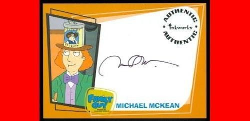FAMILY GUY SEASON 1 AUTOGRAPH MICHAEL McKEAN