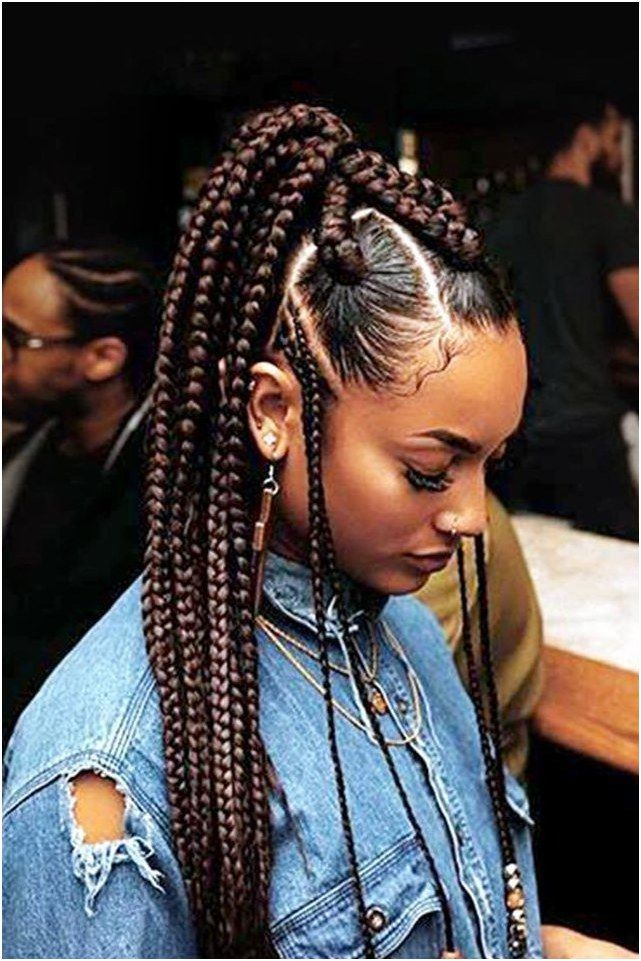 Instead Of Classic Box Braids Supermodel Jourdan Dunn Edged Up Her Style By Incorporating Different Braid S Hair Styles Box Braids Styling Natural Hair Styles