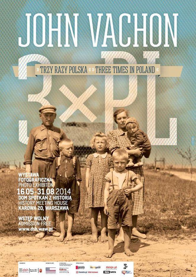 Wystawa fotografii powojennej Polski autorstwa amerykańskiego fotografa Johna Vachona w Domu Spotkań z Historią