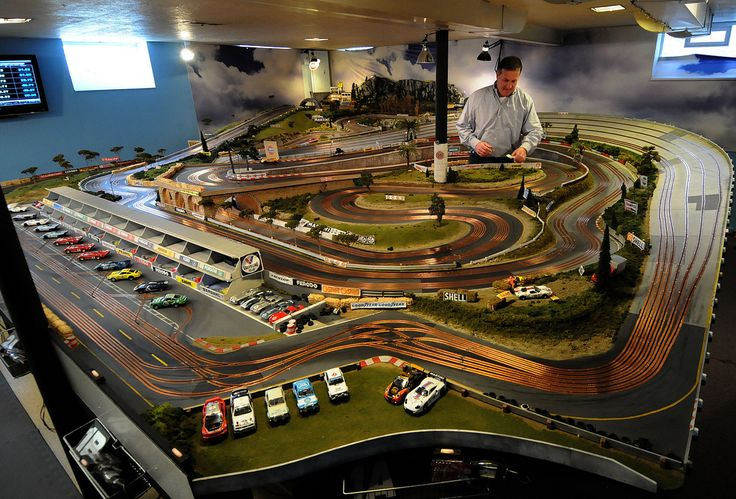 Slot Mods slot car tracks for the real motorhead man cave