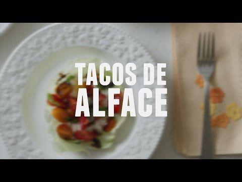Tacos de alface - Lucilia Diniz