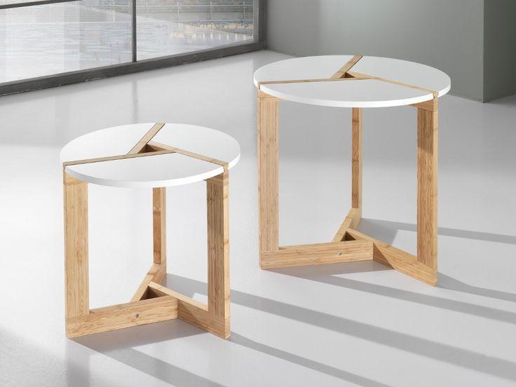 Coppia tavolini in legno per soggiorno Varm
