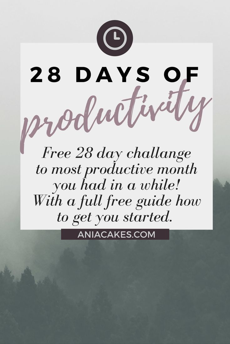 28 days of productivity. Learn how to efficiently balance your time for minimum work and maximum results in 28 days.