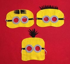 Minion Mask set of 18 Part Favor by miriamsolano on Etsy                                                                                                                                                      More