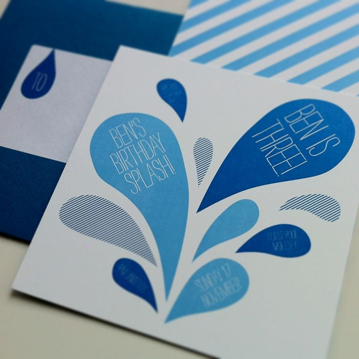 Pool party! Invitation by Bureau Design www.bureaudesign.co.uk  #partyinvitation #childrensparty #bureaudesign