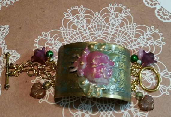Check out this item in my Etsy shop https://www.etsy.com/au/listing/259988467/wide-cuff-bracelet-with-double-chain-and