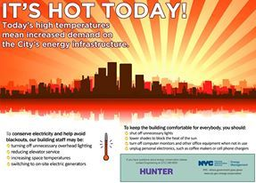 Today's high temperatures mean increased demand on the City's energy infrastructure. http://www.payscale.com/research/US/School=CUNY_-_Hunter_College/Salary