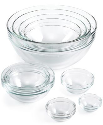 Martha Stewart Collection 10-Pc. Glass Mixing Bowl Set, Created for Macy's  | macys.com