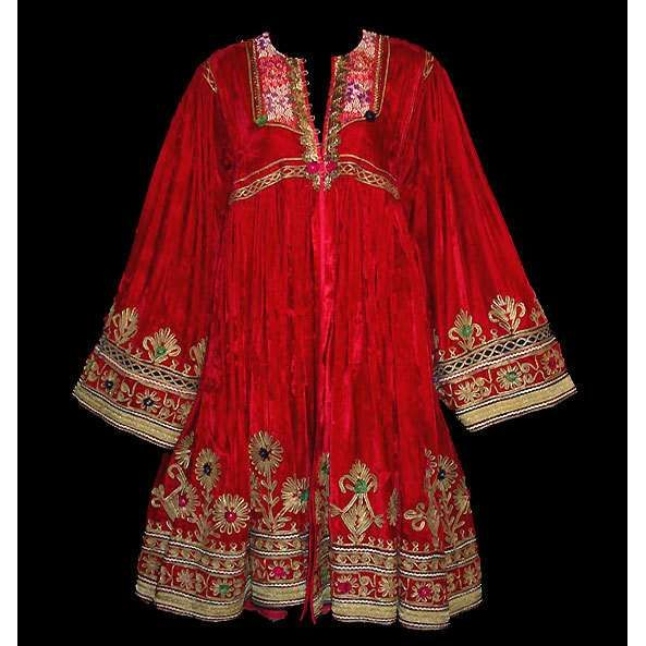 Turkish Cossack Embroidered Velvet Coat