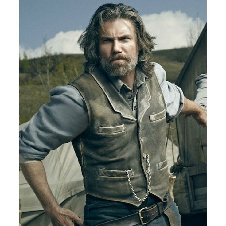 Hell on Wheels Cullen Bohannan Real Leather Vest -100% Money Back Guarantee