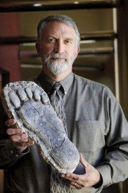 Jeff Meldrum, Professor of Anthropology at Idaho State University (EIA) Not even a real footprint