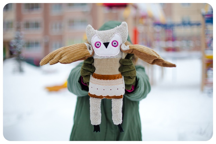 Henri Owl, by  Wassupbrothers. Love the corduroy wings.