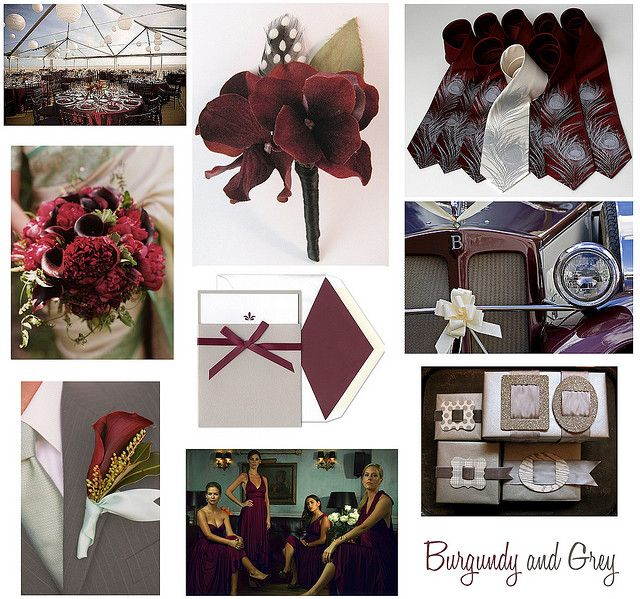 34 best images about weddings burgundy on pinterest - Maroon and grey color scheme ...