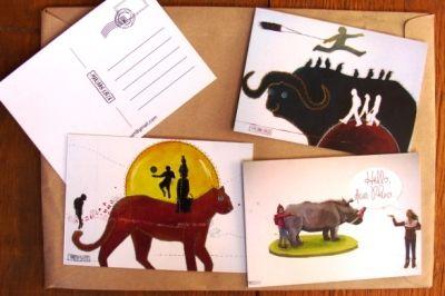 Big 5 Post Cards for curio shops