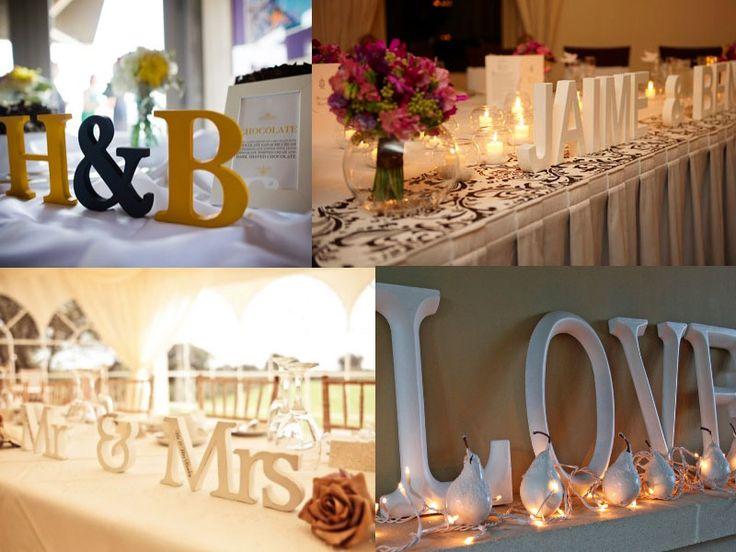 decoration table mariage lettre bois