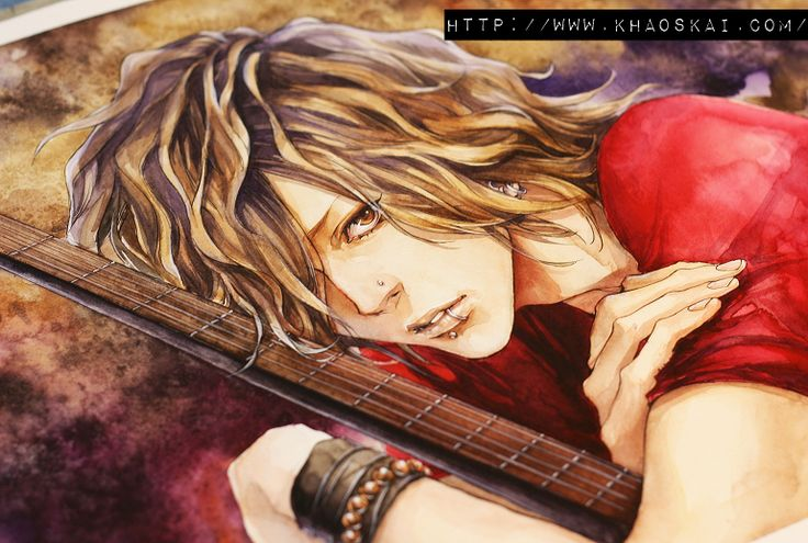 bassist .colorating. II by khaoskai.deviantart.com on @deviantART This person is amazing with water colours! Makes me want to paint now