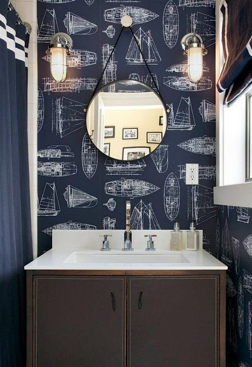 Photo Gallery In Website Best Wallpaper for bathrooms ideas on Pinterest Kitchen and bathroom wallpaper Wallpaper for home and Half bathroom wallpaper
