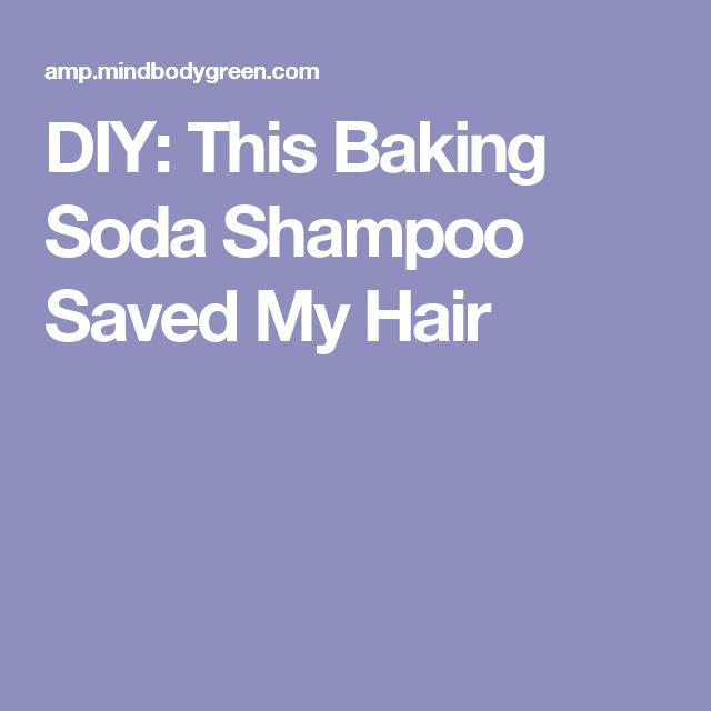 DIY: This Baking Soda Shampoo Saved My Hair
