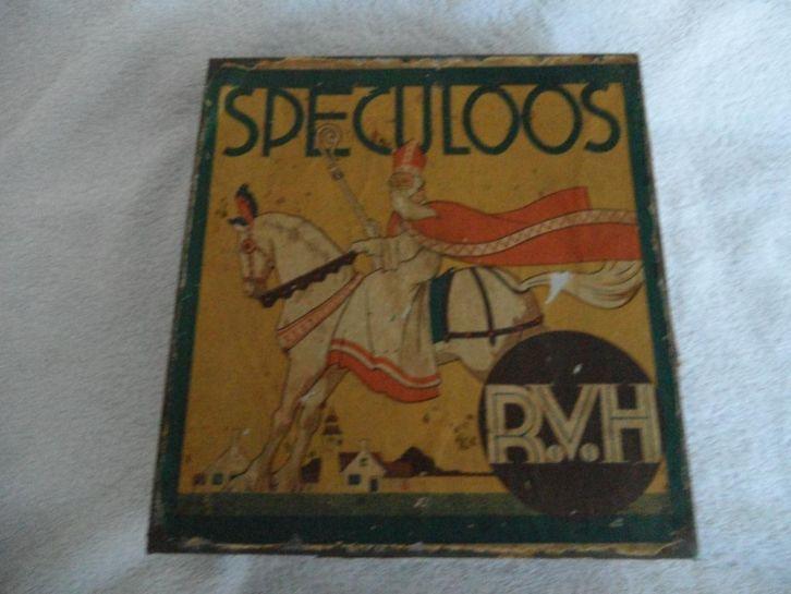 Oud Speculoosblik R.V.H. (Bovenzijde)