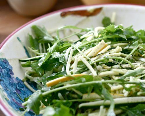 Raw Zucchini Salad with Lemon Vinaigrette
