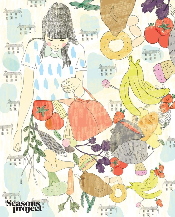 Seasons of life/ May-June issue 2013  Illustration Karina Kino #seasonsproject #seasons #illustration #art #drawing #girl