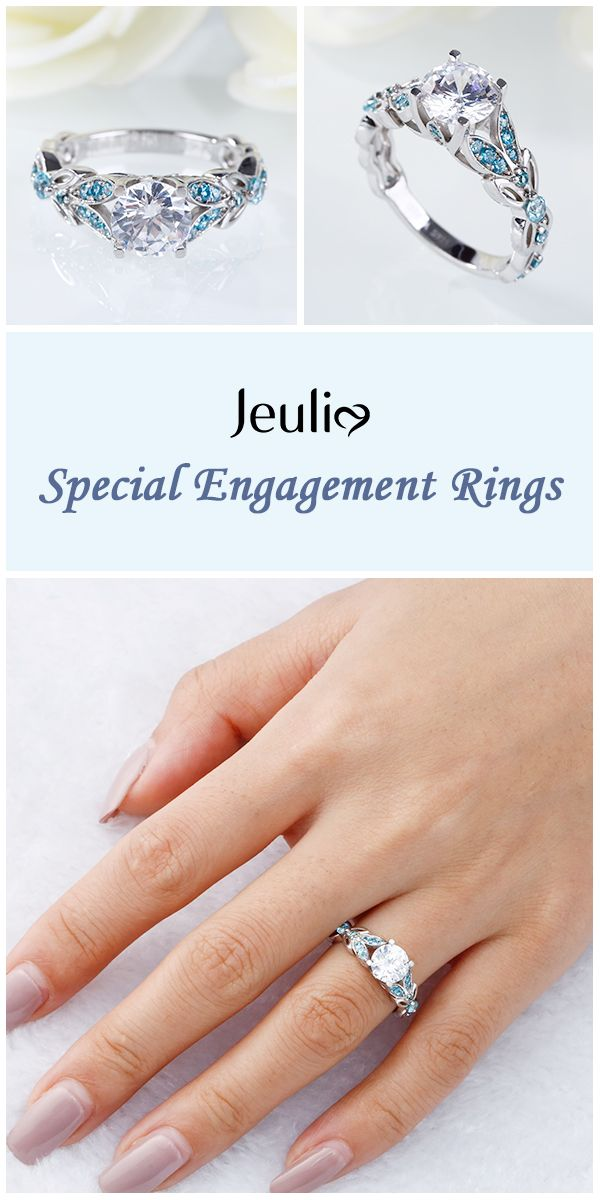 Butterfly Round Cut Sterling Silver Ring Jeulia Engagement Rings
