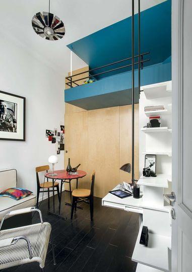 54 best images about am nager un petit apart ou un studio on pinterest kitchen dining rooms. Black Bedroom Furniture Sets. Home Design Ideas
