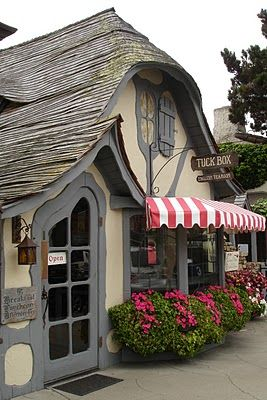 The Tuck Box Tea Room, Dolores Street, Carmel-by-the-Sea, CA      The Tuck Box Afternoon Tea consists of :    Scottish style scones,  A pot of Ceylon Black loose tea  Oallieberry, Orange Marmalade &  Whipped Creme