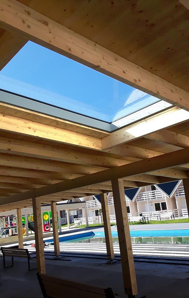 Takie zdjęcie dostaliśmy z realizacji w Pobierowie, gdzie inwestor zdecydował się na montaż okien do dachów płaskich PGX A1. Aż się ciepło na sercu robi!