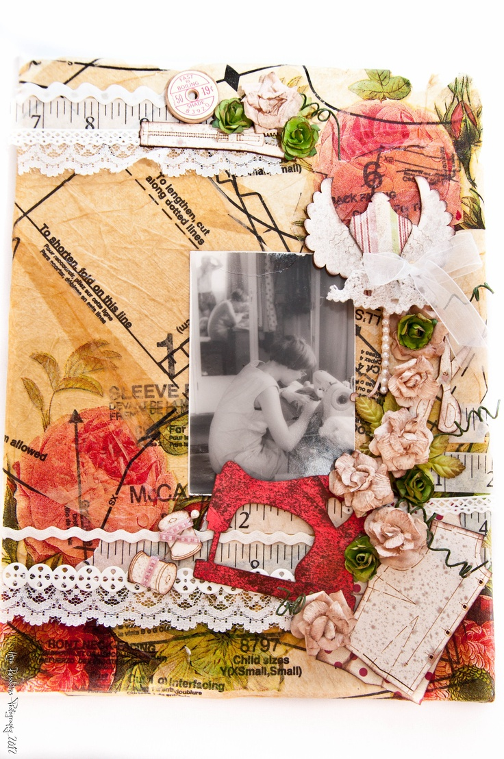 my first mixed media canvas using Enmarc chipboard embellishments