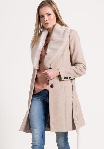 Palton dama iarna cu blana Vero Moda
