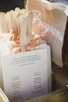Love this idea for order of service.... in the shapes of everything else!