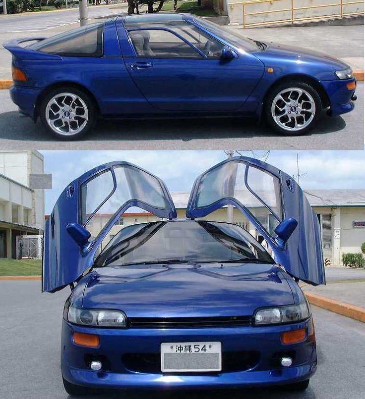 Toyota Sera, EXY 10, 1500cc, only one model was available but with many optional extras, from 1990 to 1995
