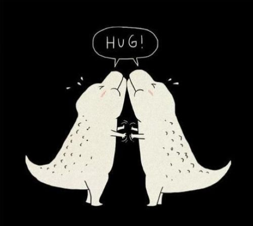 T-Rex Hug, i dont remember if I pinned this or not