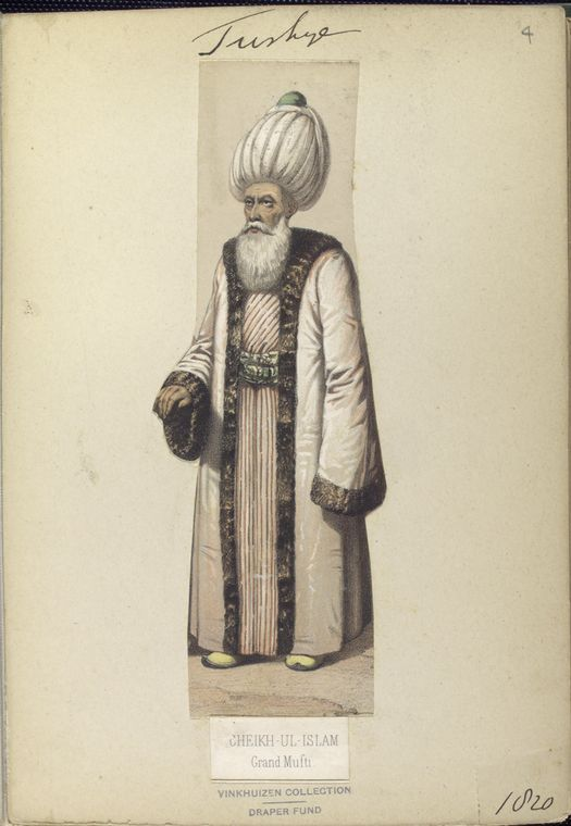 Grand Mufti. The Vinkhuijzen collection of military uniforms / Turkey, 1818. See McLean's Turkish Army of 1810-1817.