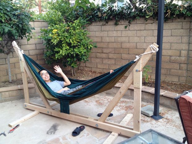 Picture of DIY Wooden Hammock Stand