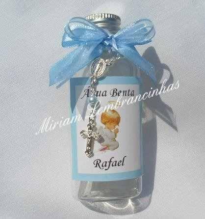 10 Lembrancinhas Batizado Ou Primeira Comunhão -água Benta