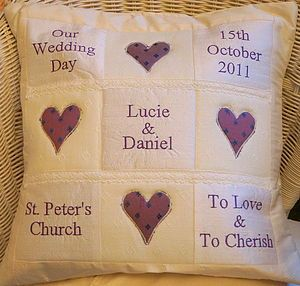 Personalised Wedding Memory Cushion - cushions