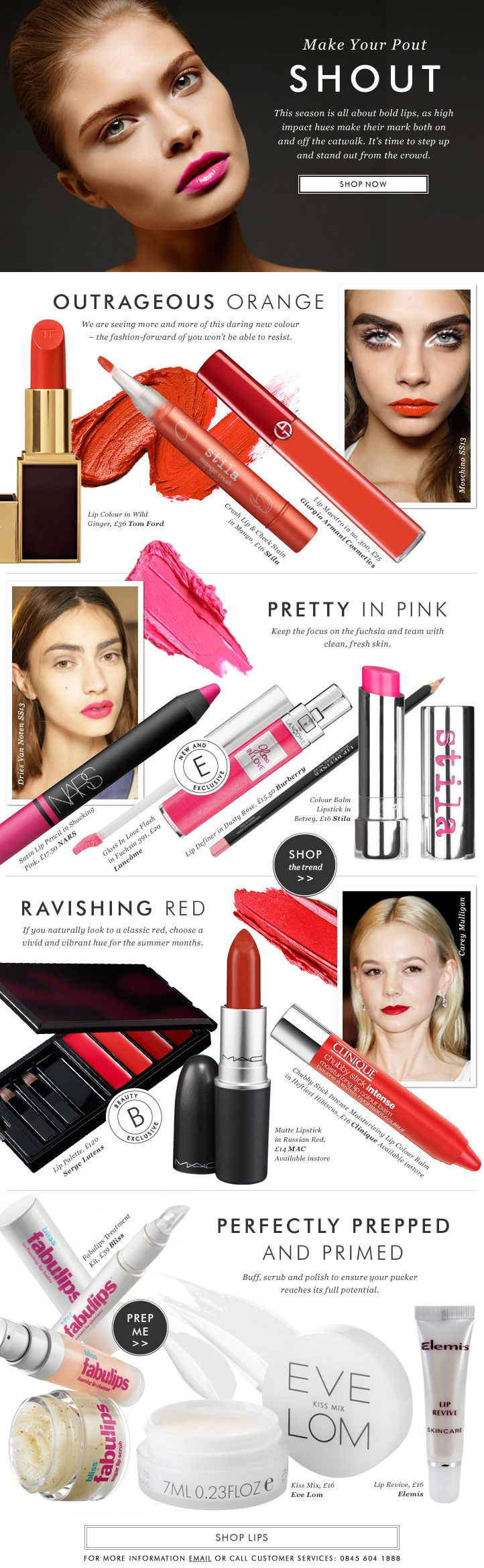 The must-have lipsticks of the season at Harvey Nichols - Trend Alert - HNEdit Latest Fashion News & Trends, Health & Beauty, Food