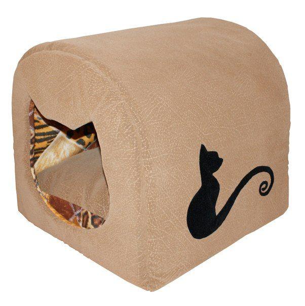 """Уютный флоковый домик - лежанка с апликацией """"Кот"""". Рарзмеры: 43*41*46 см. Съемный матрас толщиной 5 см. Цена: 1 500 руб. #Вигвам, #Гамак, #Зоотовары, #Лежанки, #матрас, #кошки, #собаки, #питер #zoo #cat #dog #piter #rus #mimimi #house #spb"""