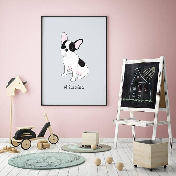 Puppy Prints Kids Wall Poster Nursery Poster Modern