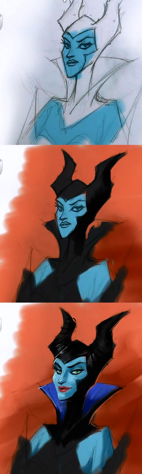 Painting Maleficent tutorial using Sketchbook Pro 6. This tutorial will teach you how to color and paint a character Maleficent. This is part two the series drawing and painting Maleficent character lesson from pencil drawing to finish illustration. This part,…