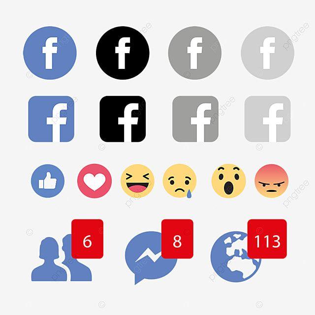 Icone De Emoticons De Reacoes Do Facebook Facebook Icons Reacoes No Facebook Facebook Imagem Png E Vetor Para Download Gratuito Emoticons Icones De Midia Social Telefone Icone