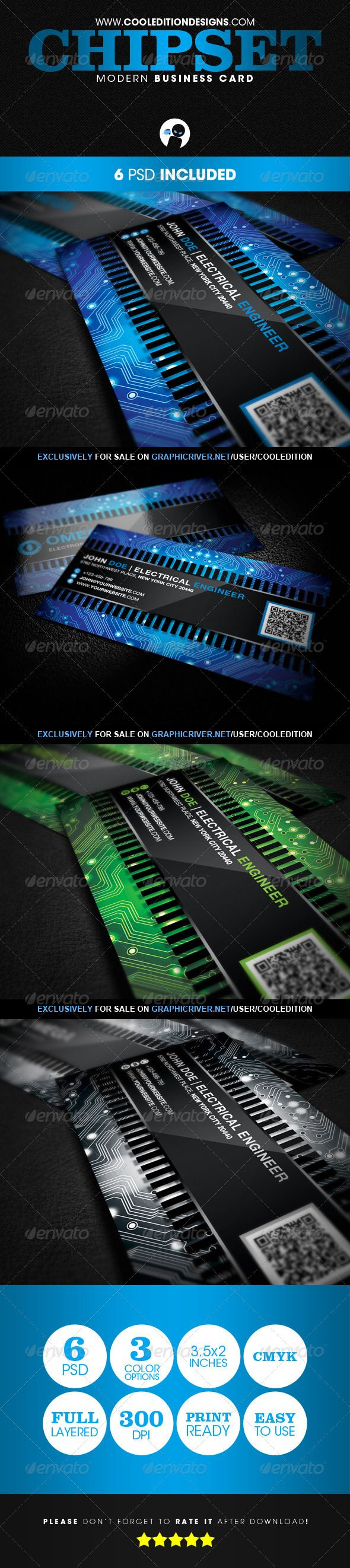 Chipset Modern - Business Card | $6