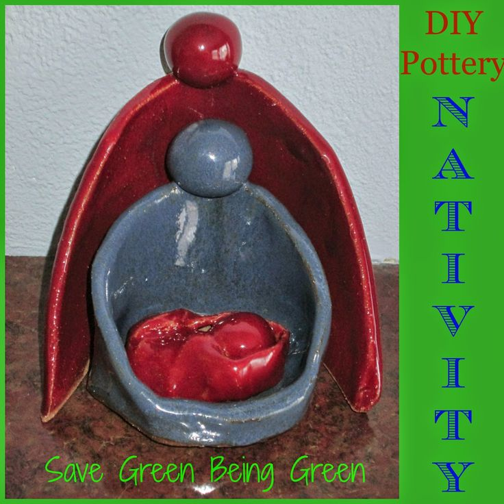 DIY Pottery Nativity, made by hand building