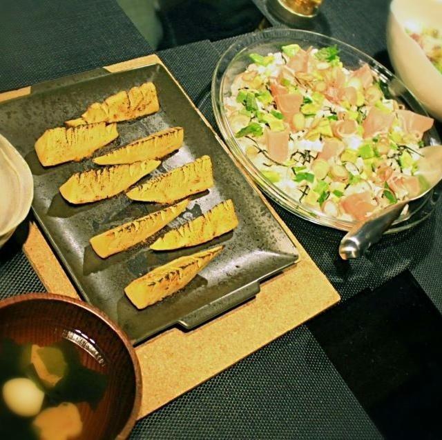 洋風ちらし寿司と筍の白味噌焼き、お吸い物で夕食。 - 3件のもぐもぐ - 洋風ちらし寿司と筍の白味噌焼き by kimiko7