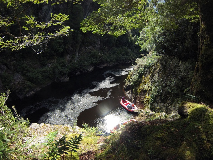 Great views from the Crows nest in the Great Ravine on the Franklin River Tasmania